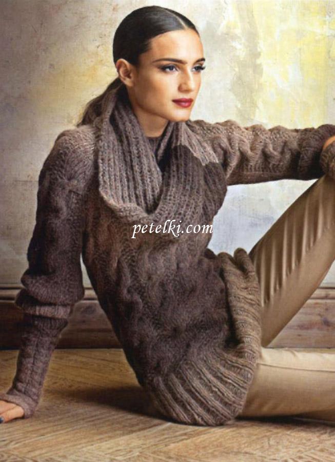 митенки и шарф-хомут