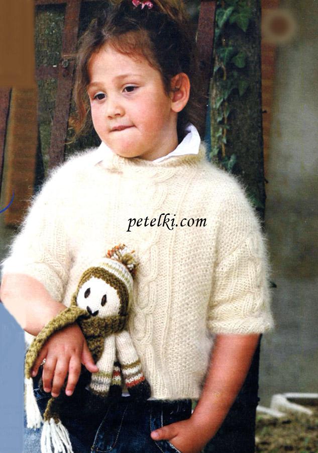 Вязание для детей на спицах из ангоры