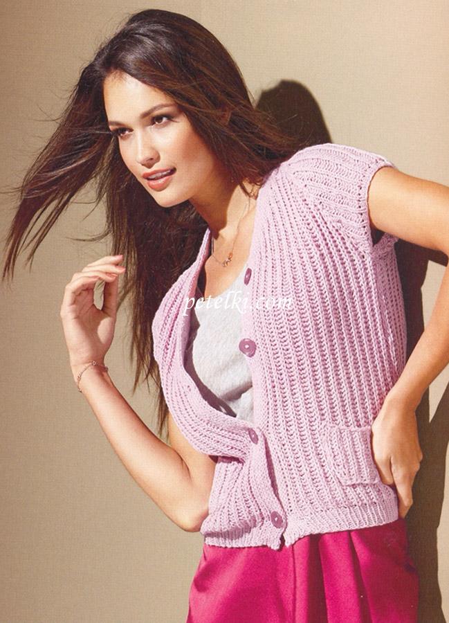Молодежные вязаные кофты спицами. . - Каталог блуз, кофт и шорт 2015 года