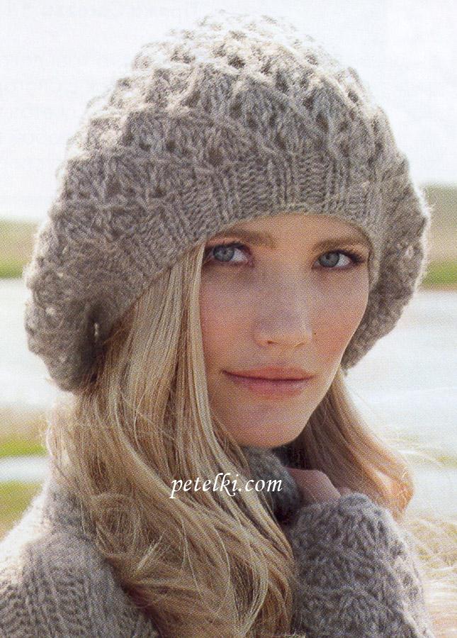 Ажурная бини-шапка