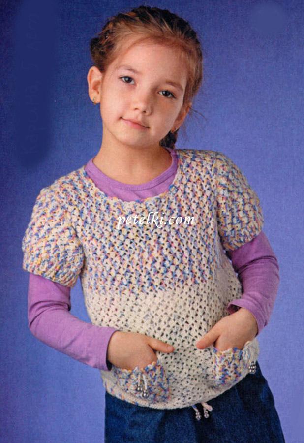 Вязание крючком для девочек жакеты