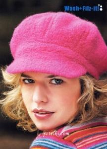 вязаные шарфы и шапки спицами